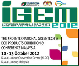 International Greentech & Eco Products Exhibition & Conference Malaysia — at KL Convention Center (KLCC).