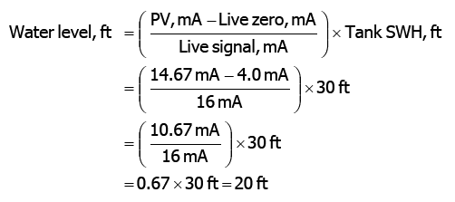 water level calculation